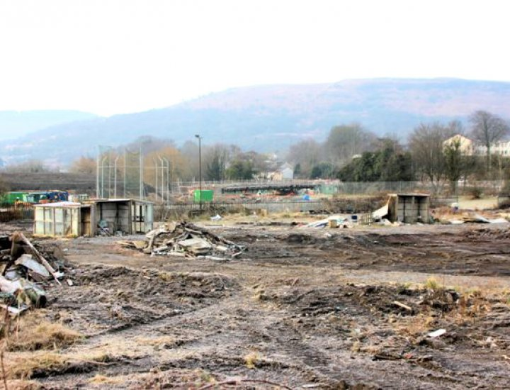 The old allotments and the new bridge by Clive