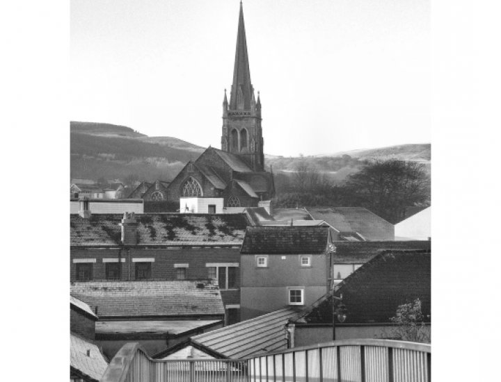 A view of Aberdare from the Ynys bridge