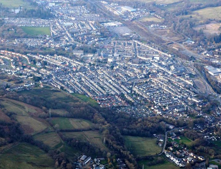 Aberdare from the air by John Bulpin Electrical Ltd
