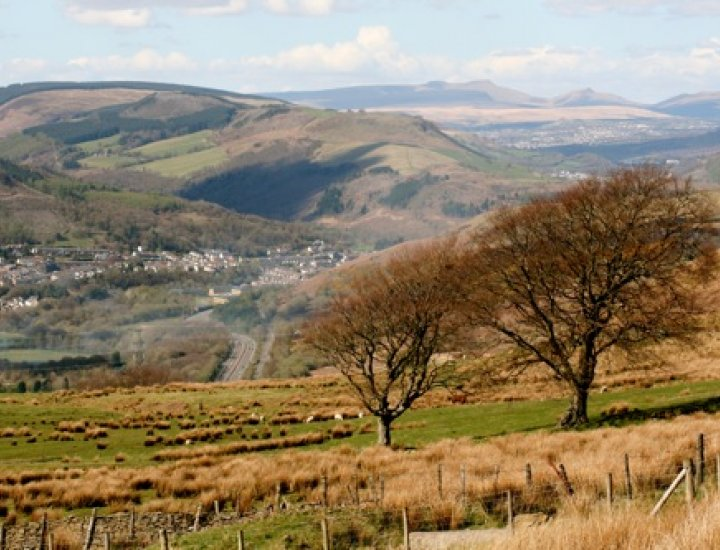 Abercynon and the Brecon Beacons beyond