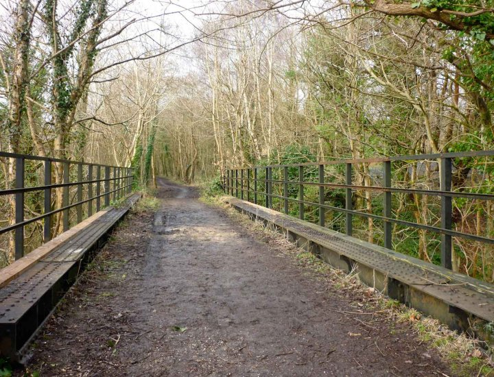 An old bridge part of  branch line from the Vale of Neath Railway above Llwydcoed