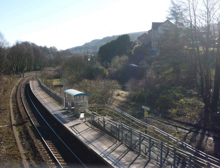Penrhiwceiber Railway Station Cynon Valley