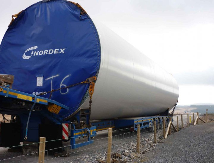 Section of wind turbine to be erected above Cynon Valley