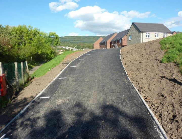 To steep for wheelchair access the new Footpath Coed Duffryn